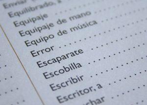 תרגום מקצועי לספרדית של תפריט